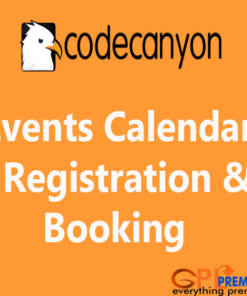 Events Calendar Registration & Booking