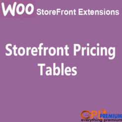 Storefront Pricing Tables